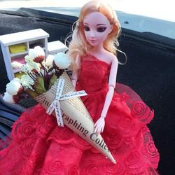 Búp Bê Barbie 12 Khớp Váy Đỏ - BBBKVĐ