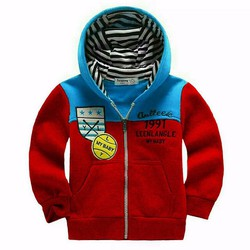 Áo khoác bé trai phong cách thể thao ấm áp mùa thu đông hàng vnxk