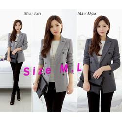 Áo khoác vest form dài cực tôn dáng và phong cách TK102