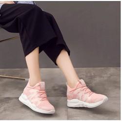 giày thể thao nữ siêu nhẹ 3 màu đen ,trắng ,hồng