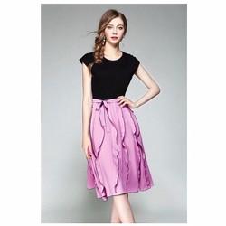 set áo và chân váy hồng quyến rũ
