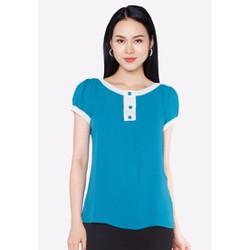 Áo kiểu The One Fashion ADB0643 màu xanh dương phối nơ ngực