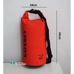 Túi khô chống nước đi biển Waterproof SAFEBET Chính hãng10L_Đỏ