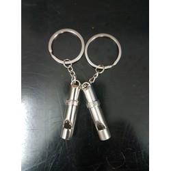 Móc khóa cặp - Còi tình yêu kèm túi quà tặng