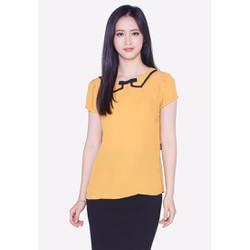 Áo kiểu nữ The One Fashion ADB0653 màu vàng cổ sen phối nơ