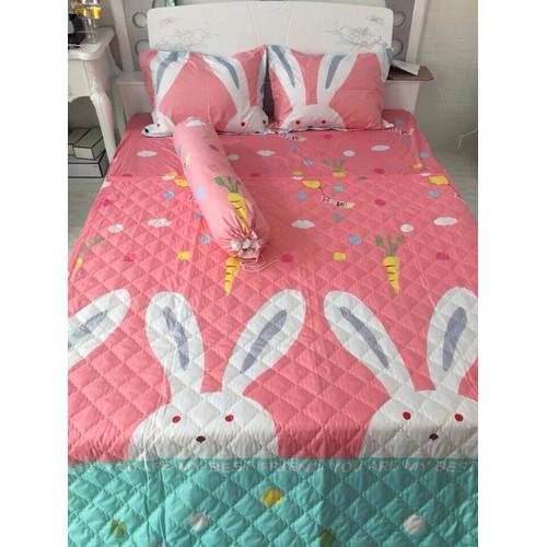 [Siêu sale] [hổ trợ pvc tối đa 30k] sale cuối năm bộ drap giường cotton poly 4 món