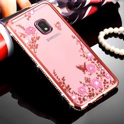 Ốp lưng Samsung. Galaxy J7 Pro hoa đính đá Swarovski