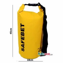 Túi khô chống nước đi biển Waterproof SAFEBET Chính hãng 10L_Vàng