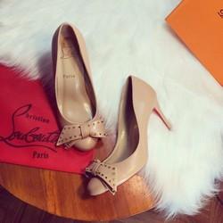 Louboutin giày cao gót   Louboutin giày cao gót nơ xinh xắn