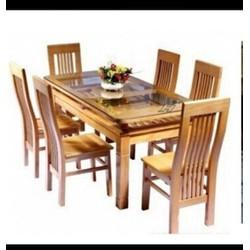 bộ bàn ăn 6 ghế gỗ sồi đức