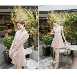 Váy ren cao cấp phong cách Hàn Quốc xinh xắn