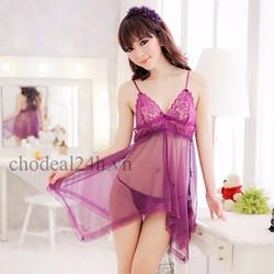 Áo đầm ngủ quyến rũ CDAN01- Tím