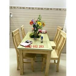 bộ bàn ăn 4 ghế gỗ sồi nga  S 44