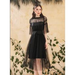Đầm Xòe Lưới Kiểu Vintage