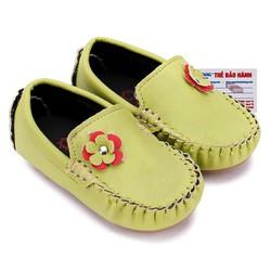 Giày KIDS Nữ Huy Hoàng màu xanh lá phối hoa