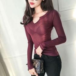 áo cổ v cúc