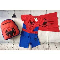 Bộ siêu nhân người nhện kèm choàng và ba lô