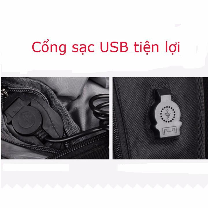 Balo Cao Cấp, Phát Sáng Có Sạc USB, Có Khóa Chống Trộm 3