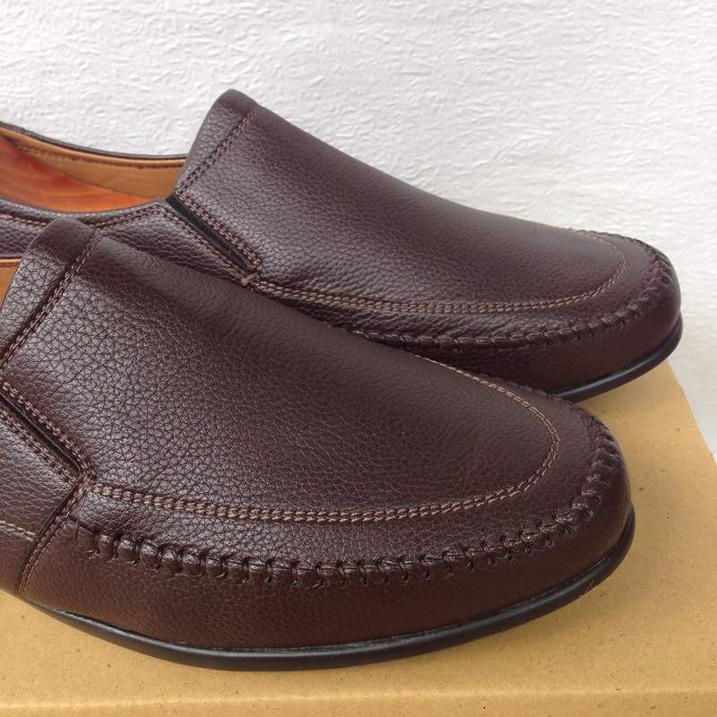 Giày mọi nam màu nâu đất thời trang kiểu dáng mới 18