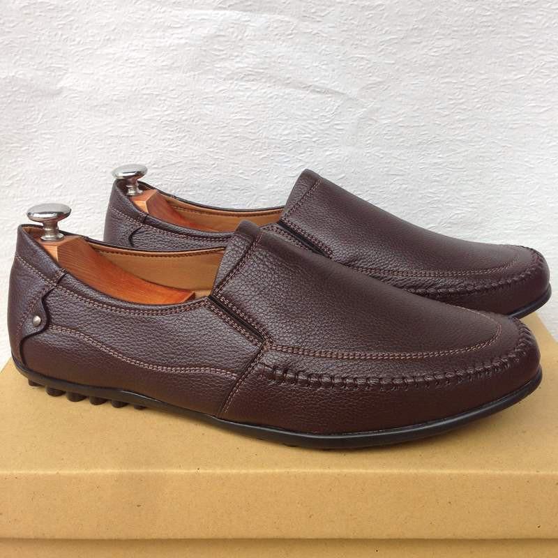 Giày mọi nam màu nâu đất thời trang kiểu dáng mới 17
