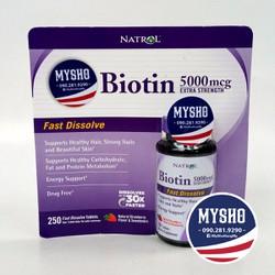 Hỗ trợ mọc, dưỡng tóc Biotin – Fast Dissolve 250v