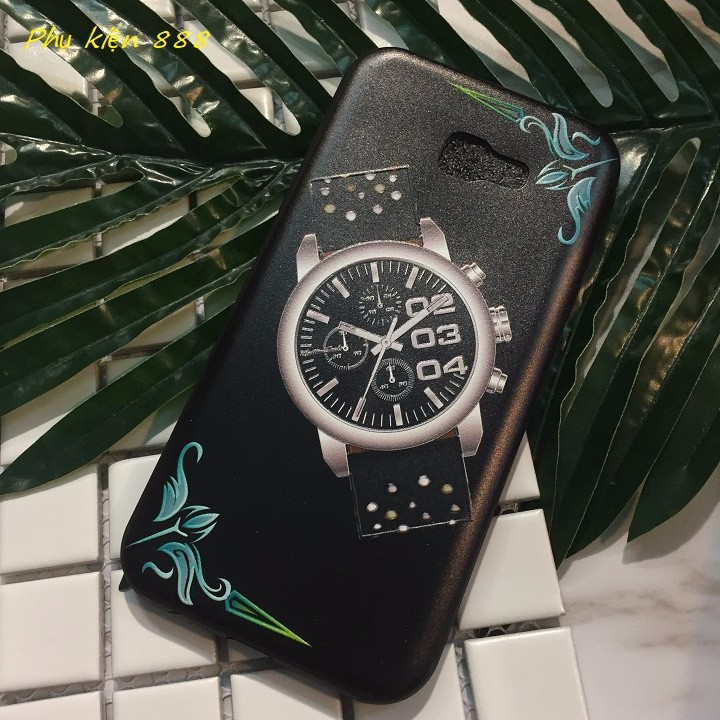 Ốp lưng Samsung Galaxay A7 2017 đồng hồ 3