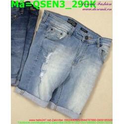 Quần short jean nam rách phong cách bụi bặm