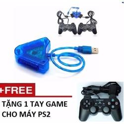 Cáp chuyển tay cầm PS2 sang USB dùng trên máy tính Tặng 1 tay game PS2