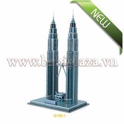 Đồ chơi lắp ghép mô hình giấy 3D - Petronas Tower