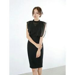Đầm body đen phối lưới