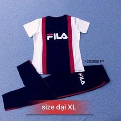 Set bộ thun FILA phối màu tay con quần dài - MS: S280843 Gs 165K