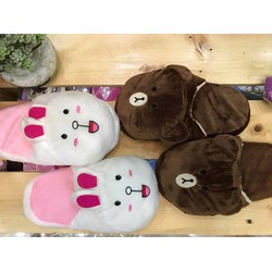 Cặp 2 đôi Dép mang trong nhà Gấu và Thỏ