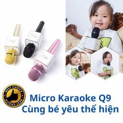 Micro karaoke bluetooth Micgeek Q9 chuyên nghiệp hơn