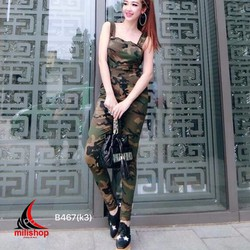 Bộ Yếm quần kèm áo croptop MY700