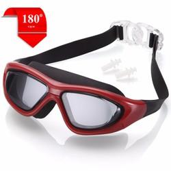 Kính bơi tầm nhìn rộng 180 Độ - RED - POPO Sports