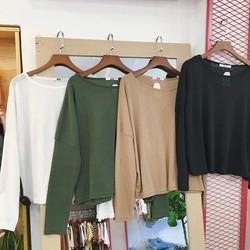 Áo thun dài tay nhiều màu