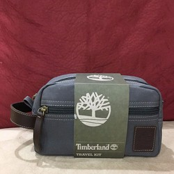 Ví Du Lịch Timberland Water Resistant Canvas Travel Kit Grey