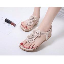 HÀNG NHẬP- Giày sandal kết hoa cao cấp