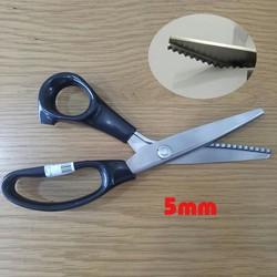 Kéo cắt vải răng cưa - răng hình tam giác 5mm