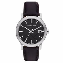 Đồng hồ Burberry The City Black Dial Leather Strap Men s