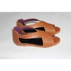 Giày bệt da mềm màu nâu bò