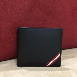 Ví Bally Bi-Fold Plain Leather Black