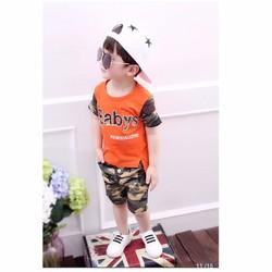 Bộ bé trai Babys phối quần lính cá tính 9-14 tuổi NX1096