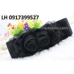 Dây nịt thắt lưng nữ bản to Roses cao cấp L12TL01