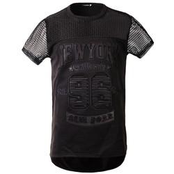 áo thun chữ nổi new york Mã: NT1716 - ĐEN