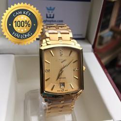 Đồng hồ nam mặt vuông cao cấp LG vuông vàng lịch lãm sang trọng