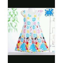 Đầm thun bé gái in hoạt hình dễ thương size đại