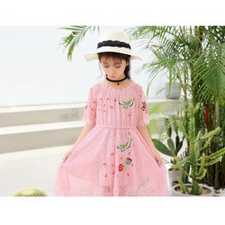 Đầm ren công chúa trễ vai xinh mát mùa hè