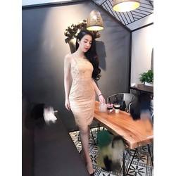 Đầm dự tiệc cao cấp pha ren