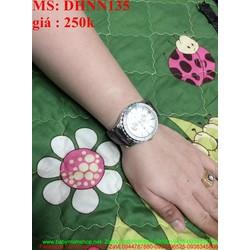 Đồng hồ da đeo tay nam mặt tròn kiểu dáng sang trọng DHNN135
